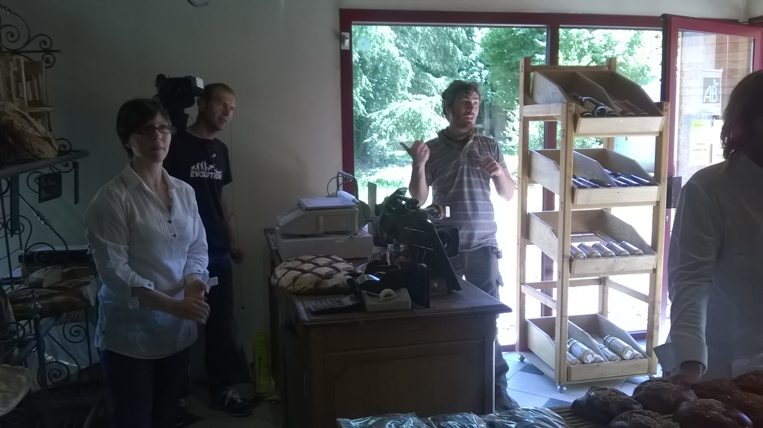 Une équipe télé à la Maison Ruaud