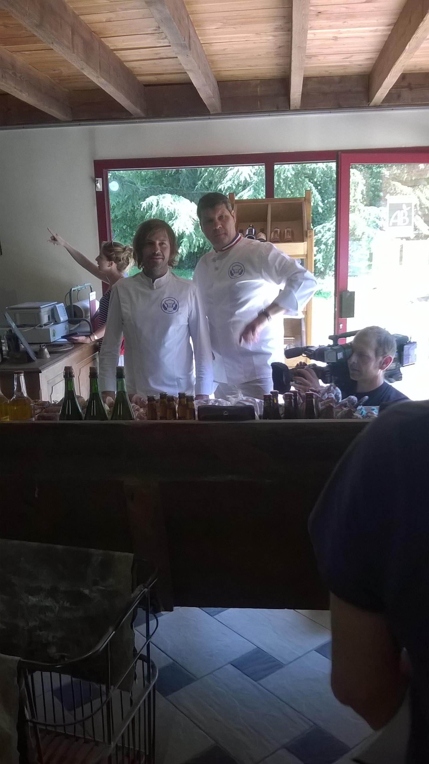 Gontran Cherrier et Bruno Cormerais à la Boulangerie Ruaud