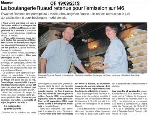 La boulangerie Ruaud en vedette dans la presse quotidienne