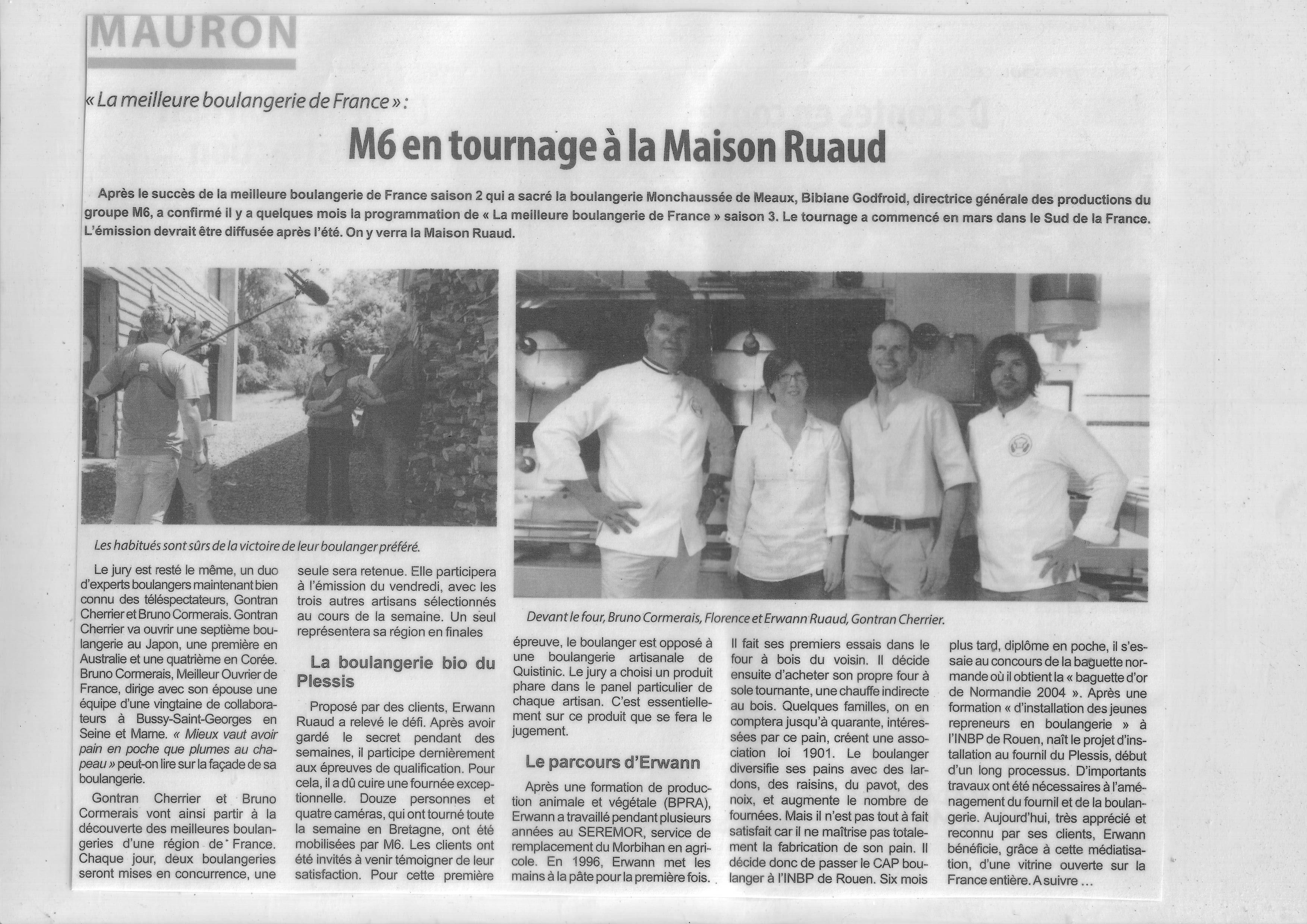Tournage Meilleure Boulangerie M6 - Maison Ruaud